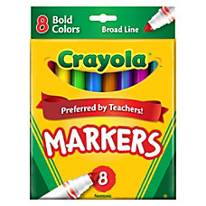 Crayola Broad Line Markers Assorted Bold