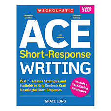 Scholastic ACE Short Response Writing Activity