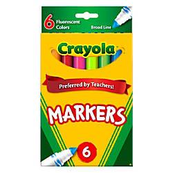 Crayola Fluorescent Broad Line Markers Assorted