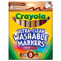 Crayola Multicultural Washable Markers Assorted Colors