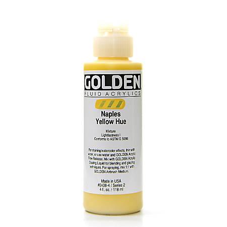 Golden Fluid Acrylic Paint, 4 Oz, Historical Naples Yellow Hue