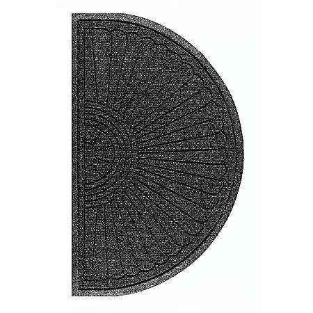 "The Andersen Company Waterhog Eco Grand Premier Half-Oval Floor Mat, 48"" x 27 5/8"", Black Smoke"