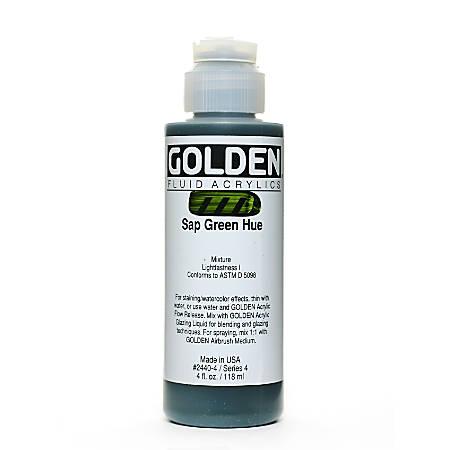 Golden Fluid Acrylic Paint, 4 Oz, Historical Sap Green Hue