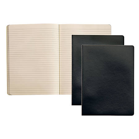 """Oxford™ Idea Collective Notebook, 10"""" x 7 1/4"""", 96 Sheets, Black, Pack Of 2"""