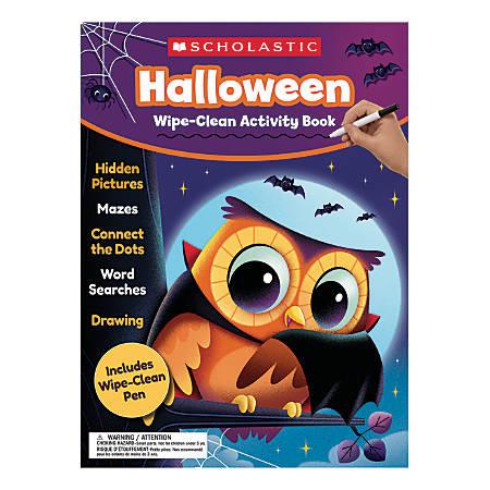 Scholastic Halloween Wipe-Clean Activity Book, Pre-K To 1st Grade