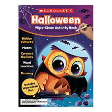 Scholastic Halloween Wipe Clean Activity Book