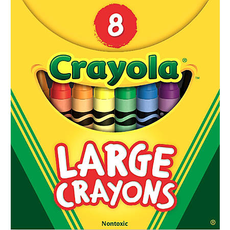Crayola® Large Crayon Set, Assorted Colors, Box Of 8