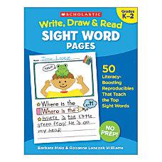 Scholastic Write Draw Read Sight Word
