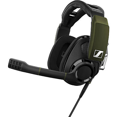 Sennheiser PC Gaming Headset Surround Sound GSP 550 - Stereo - USB - Wired - 28 Ohm - 10 Hz - 30 kHz - Over-the-head - Binaural - Circumaural - Bi-directional, Electret, Condenser, Noise Cancelling Microphone - Black
