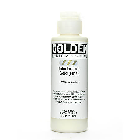 Golden Fluid Acrylic Paint, 4 Oz, Interference Gold Fine