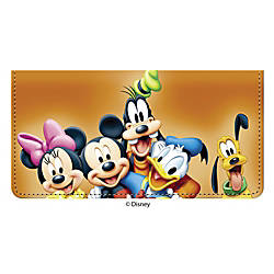 Personal Wallet Check Cover Mickey Friends