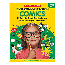 Scholastic First Comprehension Comics Kindergarten To