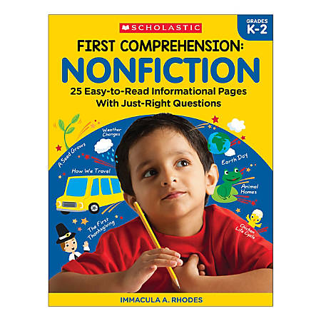 Scholastic First Comprehension: Nonfiction, Kindergarten To 2nd Grade