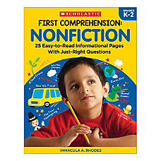 Scholastic First Comprehension Nonfiction Kindergarten To