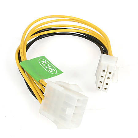 StarTech.com 8in EPS 8 Pin Power Extension Cable - 8