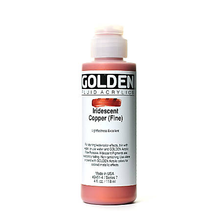 Golden Fluid Acrylic Paint, 4 Oz, Iridescent Copper Fine