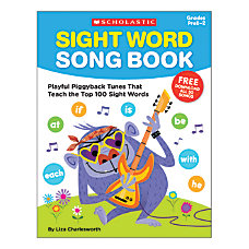 Scholastic Sight Word Song Book Pre