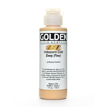 Golden Fluid Acrylic Paint, 4 Oz, Iridescent Gold Deep Fine