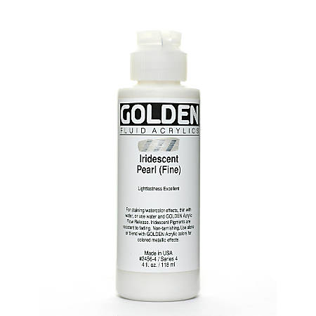 Golden Fluid Acrylic Paint, 4 Oz, Iridescent Pearl Fine