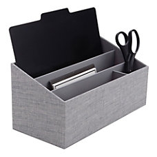 Realspace Fabric 4 Compartment Desk Valet