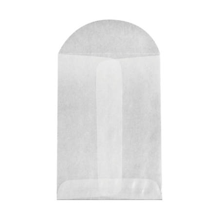"LUX Open-End Envelopes With Flap Closure, 2 3/4"" x 3 3/4"", Glassine, Pack Of 50"