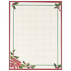 masterpiece studios holiday design paper 8 12 x 11 poinsettia