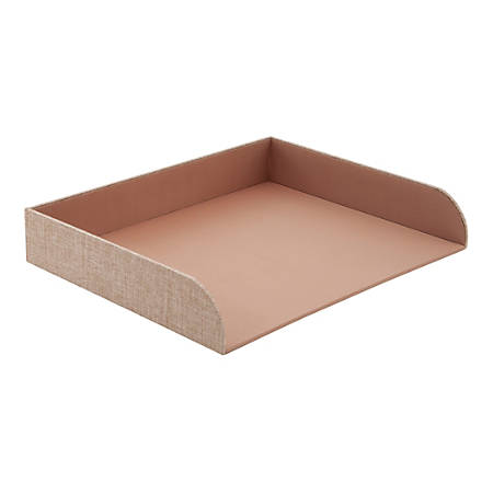 """Realspace™ Fabric Letter Tray, 12-1/2""""H x 9-3/4""""W x 2-1/4""""D, Tan"""