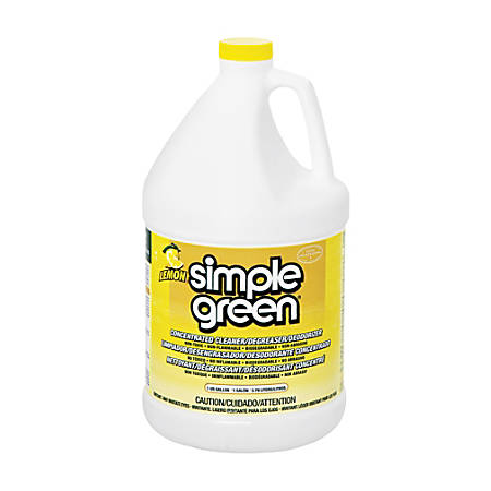 Simple Green Industrial Cleaner/Degreaser - Concentrate Liquid - 1 gal (128 fl oz) - Lemon Scent - 6 / Carton - Lemon