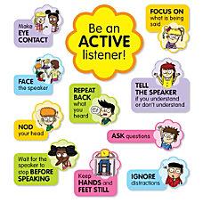 Scholastic Active Listening Bulletin Board Set
