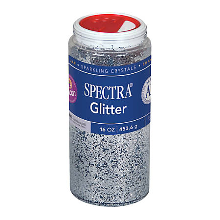 Pacon® Glitter, Shaker-Top Can, Silver