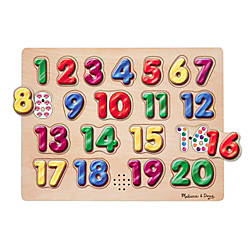 Melissa Doug Spanish Numbers Sound Puzzle
