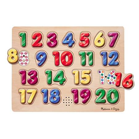 Melissa & Doug Spanish Numbers Sound Puzzle, Pre-K - Kindergarten