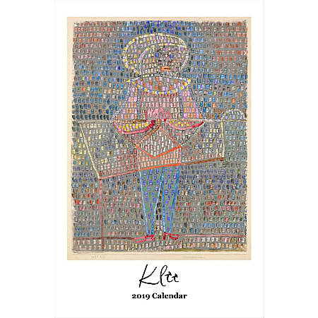 "Retrospect Monthly Wall Calendar, Paul Klee, 19-1/4"" x 12-1/2"", Multicolor, January to December 2019"