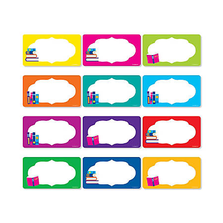 "Scholastic Library Labels, 5-1/2"" x 3"", Assorted Designs, Pack Of 72 Labels"