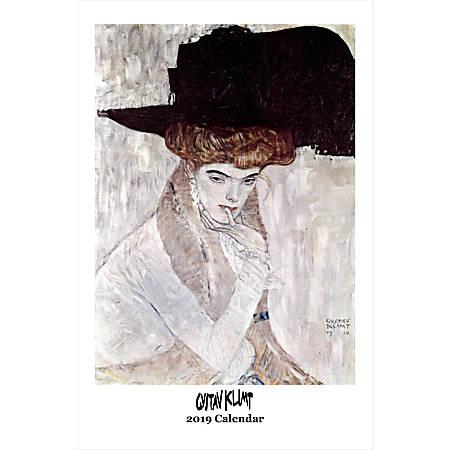 "Retrospect Monthly Wall Calendar, Gustav Klimt, 19-1/4"" x 12-1/2"", Multicolor, January to December 2019"