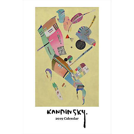 "Retrospect Monthly Wall Calendar, Kandinsky, 19-1/4"" x 12-1/2"", Multicolor, January to December 2019"