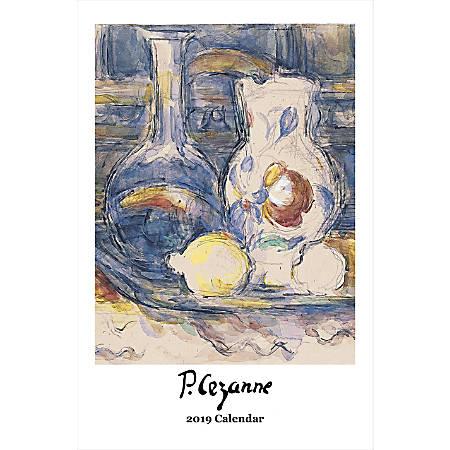 "Retrospect Monthly Wall Calendar, Paul Cézanne, 19-1/4"" x 12-1/2"", Multicolor, January to December 2019"