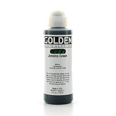 Golden Fluid Acrylic Paint, 4 Oz, Jenkins Green