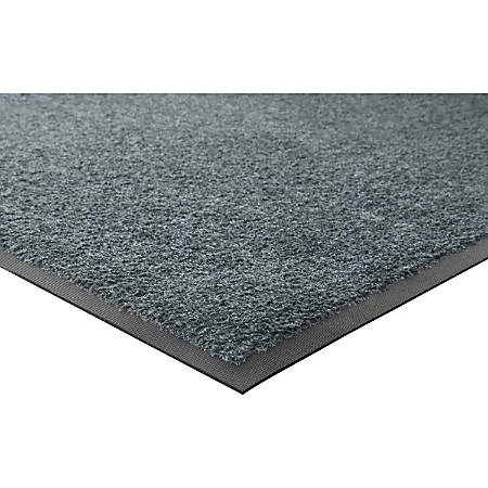 Genuine Joe Platinum Series Walk-Off Indoor Mat, 4' x 6', Gray
