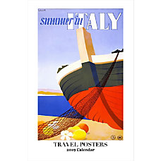 Retrospect Monthly Wall Calendar Travel Posters