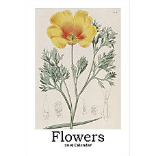 Retrospect Monthly Wall Calendar Flowers 19