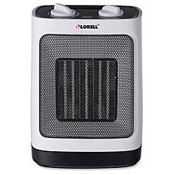 Lorell Electric Adjustable Ceramic Heater White