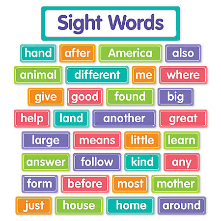 Scholastic Sight Words Bulletin Board Set - Office Depot