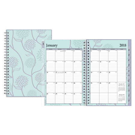 """Blue Sky™ Weekly/Monthly Planner, 5"""" x 8"""", 50% Recycled, Rue Du Flore, January to December 2018 (101603)"""