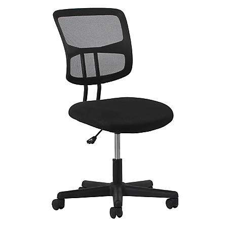 OFM Essentials Swivel Mesh Mid-Back Task Chair, No Arms, Black/Silver