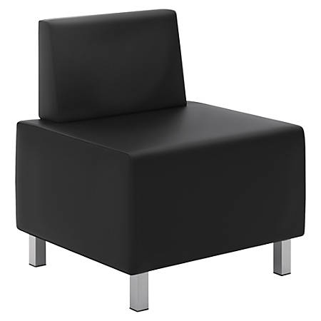 basyx by HON® Modular Leather Lounge Chair, Black