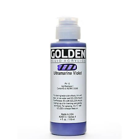 Golden Fluid Acrylic Paint, 4 Oz, Ultramarine Violet