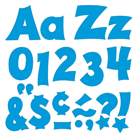 "TREND Ready Letters®, Friendly Uppercase/Lowercase Combo, 4"", Blue, Pre-K - Grade 12, Pack Of 225"