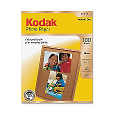 Kodak Photo Paper Glossy 100 sheets