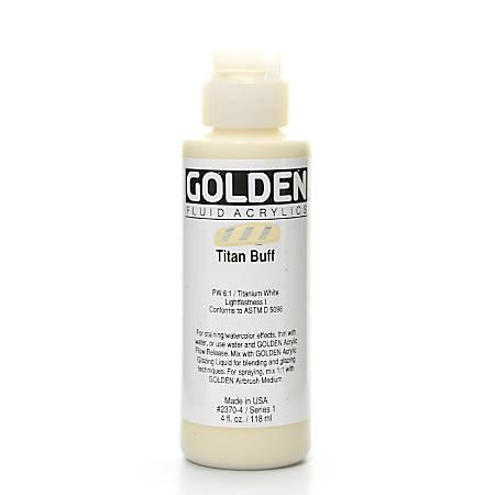 Golden Fluid Acrylic Paint, 4 Oz, Titanium Buff